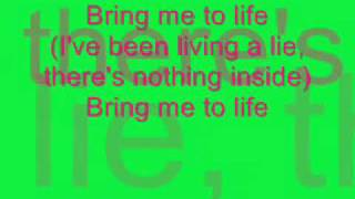 Bring me to Life Evanescence Lyrics and Download