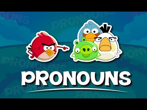 Pronouns For Kids   English Grammar For Kids with Elvis & Angry Birds   Grade 1   #6