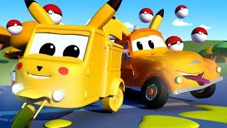 Beba Carrie je PIKACHU - Tomova Lakirnica u Auto Gradu 🎨 Crtani sa kamionima za djecu