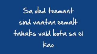 Janne - Teemant (+ right lyrics)