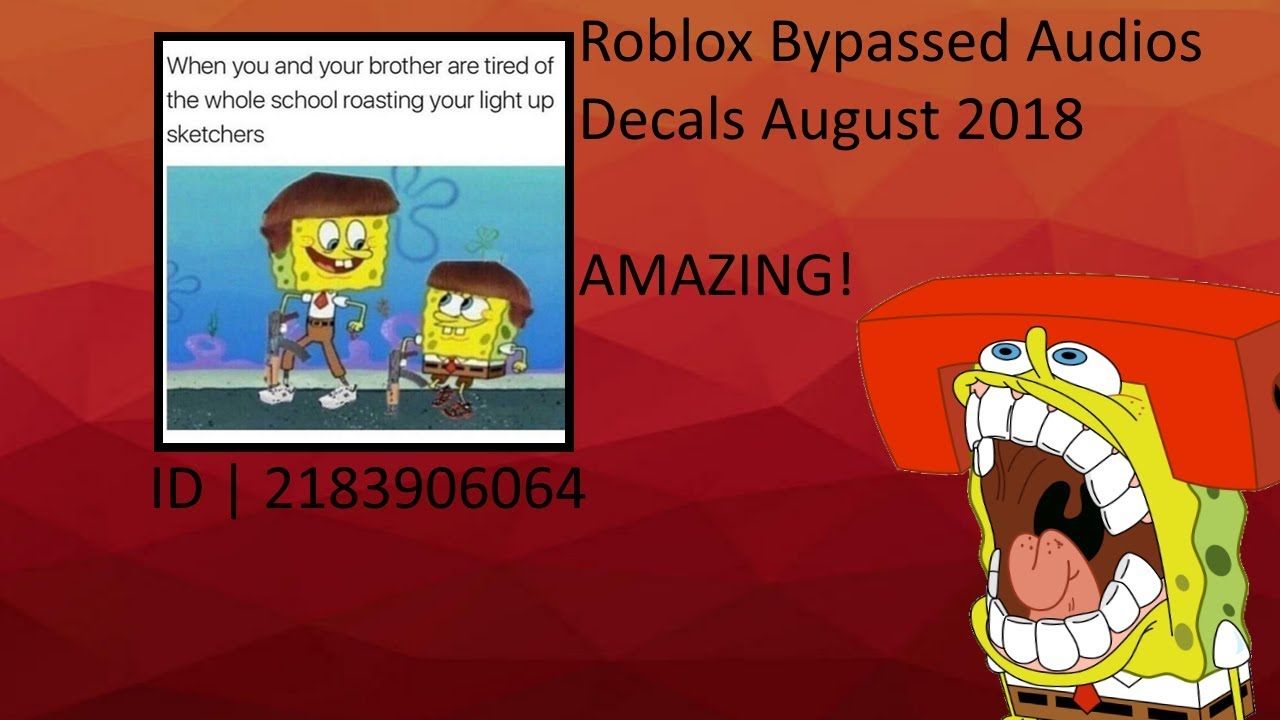 Ear R1pe Roblox Bypassed Audios Decals August 2018 Youtube