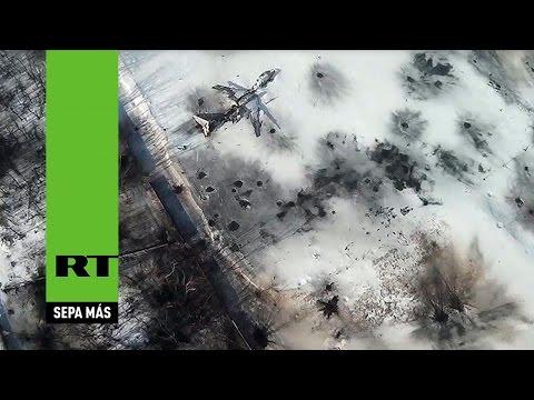 El aeropuerto de Donetsk antes y después de los intensos combates