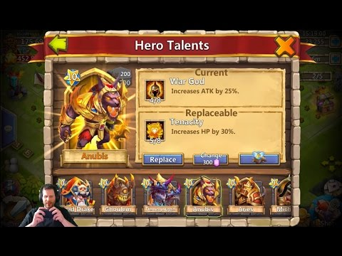 Sick Account Rolling For 5 Wargod On Anubis 35k Gems Castle Clash