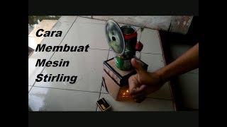 Cara Membuat Mesin Stirling dari barang bekas
