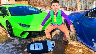 Mr. Joe on Opel Insignia OPC found Car Keys of Lamborghini Huracan Performance in Race for Kids