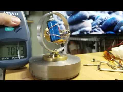 Coreless Gyro -- Unbalanced Rotor - Startup