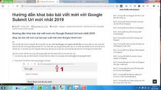 Hướng dẫn cách Submit Url lên Google mới nhất 2019