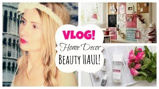 Vlog: Mini Beauty Haul I Home Decor Inspiracija!
