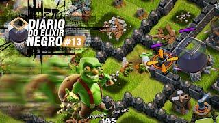 DIÁRIO do ELIXIR NEGRO #13 - Seja criativo ao atacar - Você consegue! - Clash of Clans