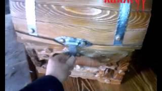 видео Сундук купить, каталог деревянных сундуков из дерева и кожи