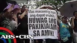 Kaarawan ni De Lima, sinalubong ng protesta ng INC