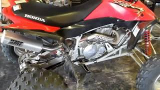 honda trx400ex hmf exhaust sound test