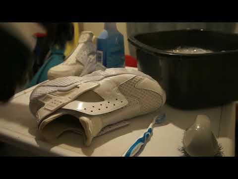 ASMR Cleaning Nike Huarache For Sleep