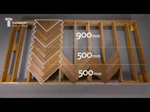 Herringbone by Thermory  modular ash decking installation video