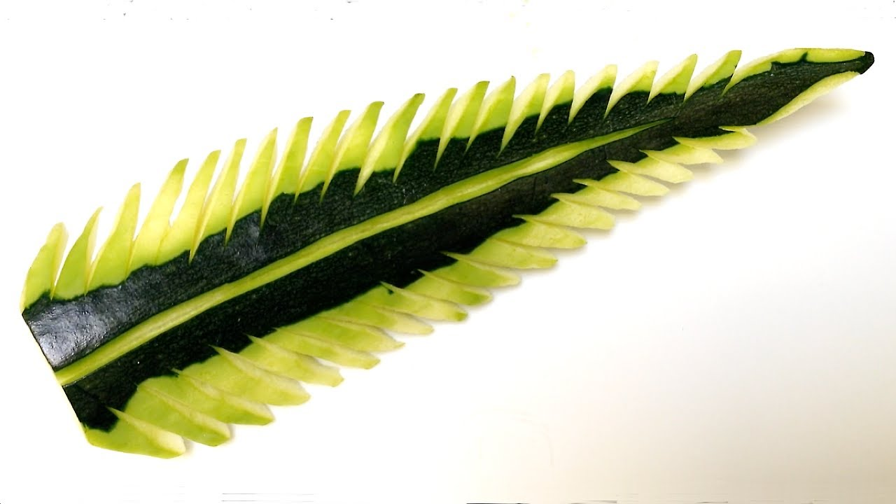 Simple zucchini leaf design beginners lesson by