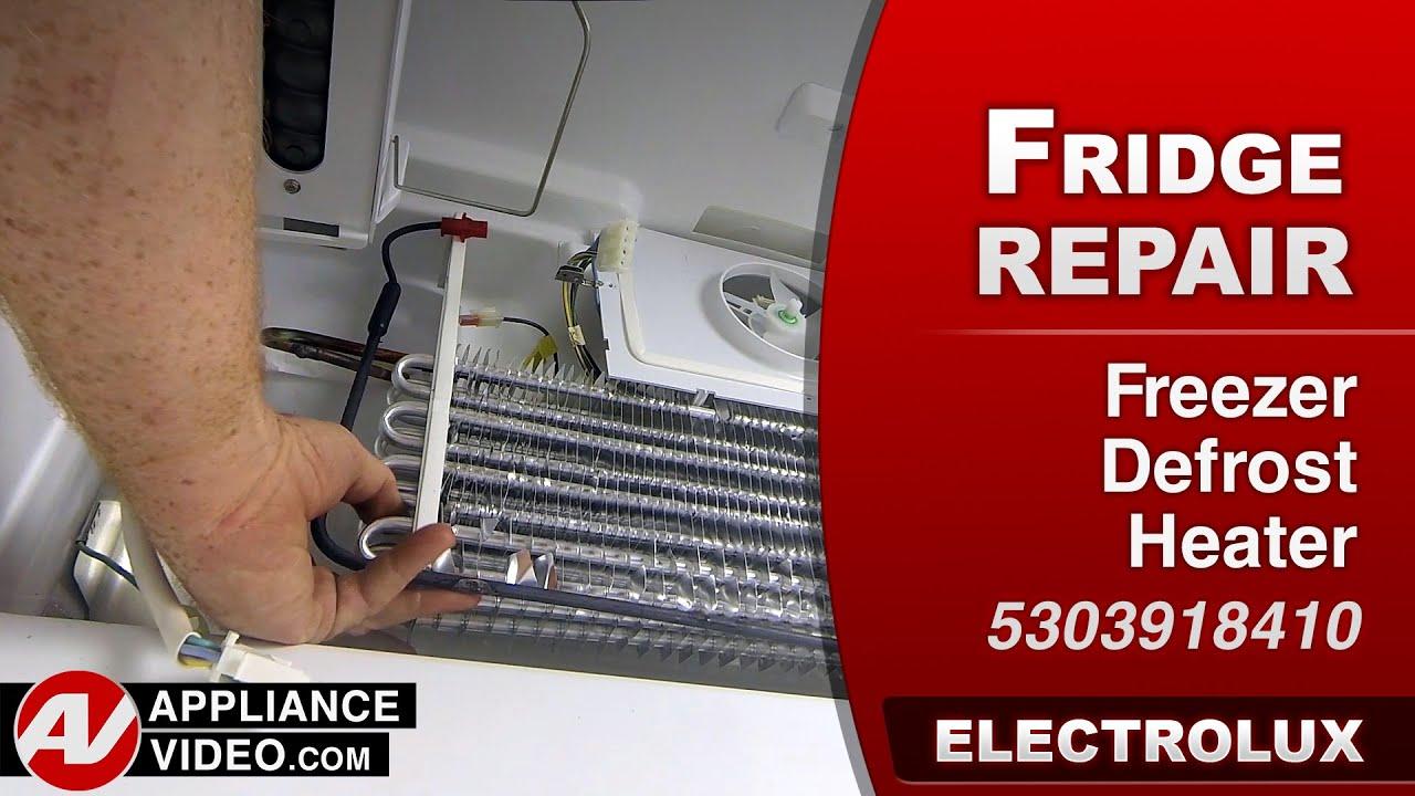 Electrolux Frigidare Refrigerator Frost In Freezer Not Cooling Defrost Heater