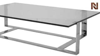 Nuevo Flynn Coffee Table Polished Stainless Steel