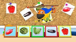 Уроки з Винтиком 3D Фрукти - Ягоди - Овочі- мультфільми українською 03