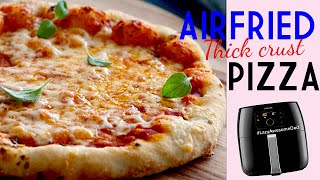 Air fried thick crust pizza in Philips Air fryer XXL Avance X Pizza Master Accessory Kit EASY Recipe
