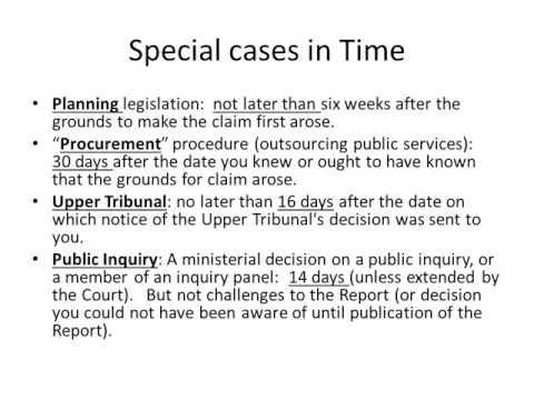 Judicial Review talk 2 procedure for starting a claim
