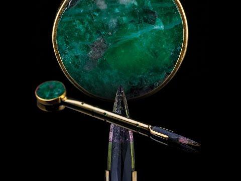 Tourmaline, Gold and Emerald dabber by Dustin Revere @diamond_dabbers || REVERE GLASS ||