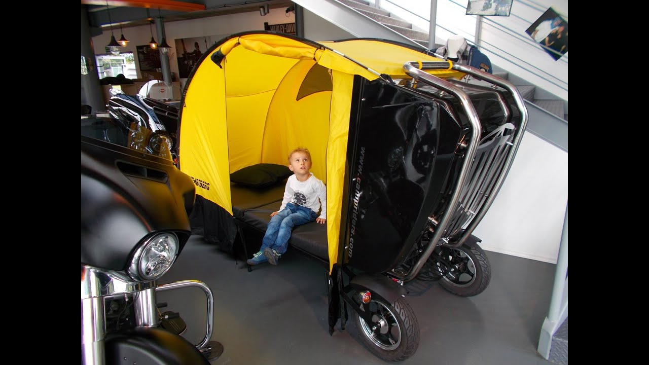 motorcycle trailer touring camp riders camping