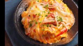 簡単かに玉丼の作り方、カニカマオムレツ丼