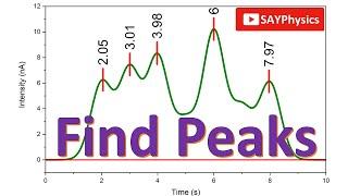 How to find peaks and label peaks in origin