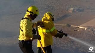 Incendio en Gran Canaria en plena ola de calor
