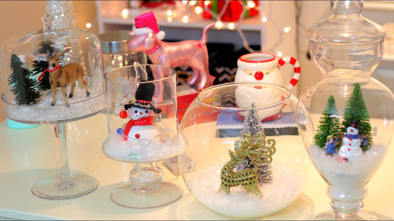 Diy christmas winter room decor christmas jars youtube Holiday apartment decorating ideas