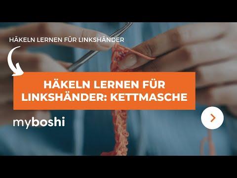 Kettmasche Häkeln Linkshänder Anleitung Youtube