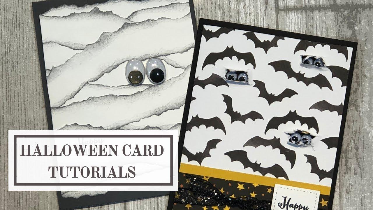 #halloweencardtutorial #halloweencardideas #stampinup