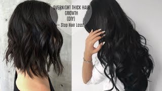 HAIR GROWTH SECRET | HOW TO GROW LONGER THICKER HAIR Naturally + Fast | Stop Hair Loss (DIY)