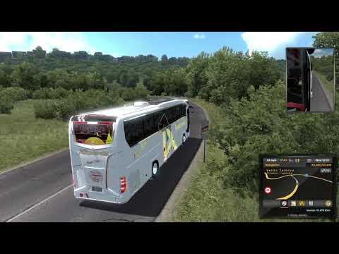 ETS2 1.37 Mods |Bus Mod| - Mountain Area With Travego 15-16 SHD 2020 Euro 6 Mod