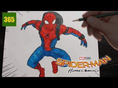 Comment Dessiner Spiderman Homecoming Youtube