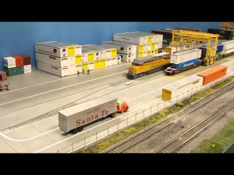 Built By AffordableModelRailroads.com UP Double Stack Hooks Up And Departs Intermodal Yard