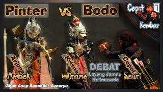 Wayang Golek: Cepot Debat Menang Lawan Krisna, Arjuna ngamuk (Asep Sunandar S) - Cepot Kembar #7