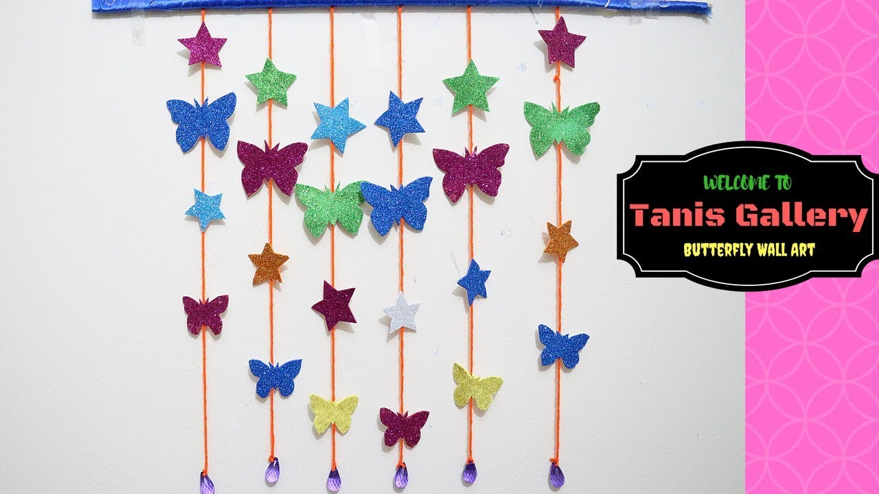 Diy butterfly and star wall room decor paper craft ideas for diy butterfly and star wall room decor paper craft ideas for room decoration 3d butterfly amipublicfo Images