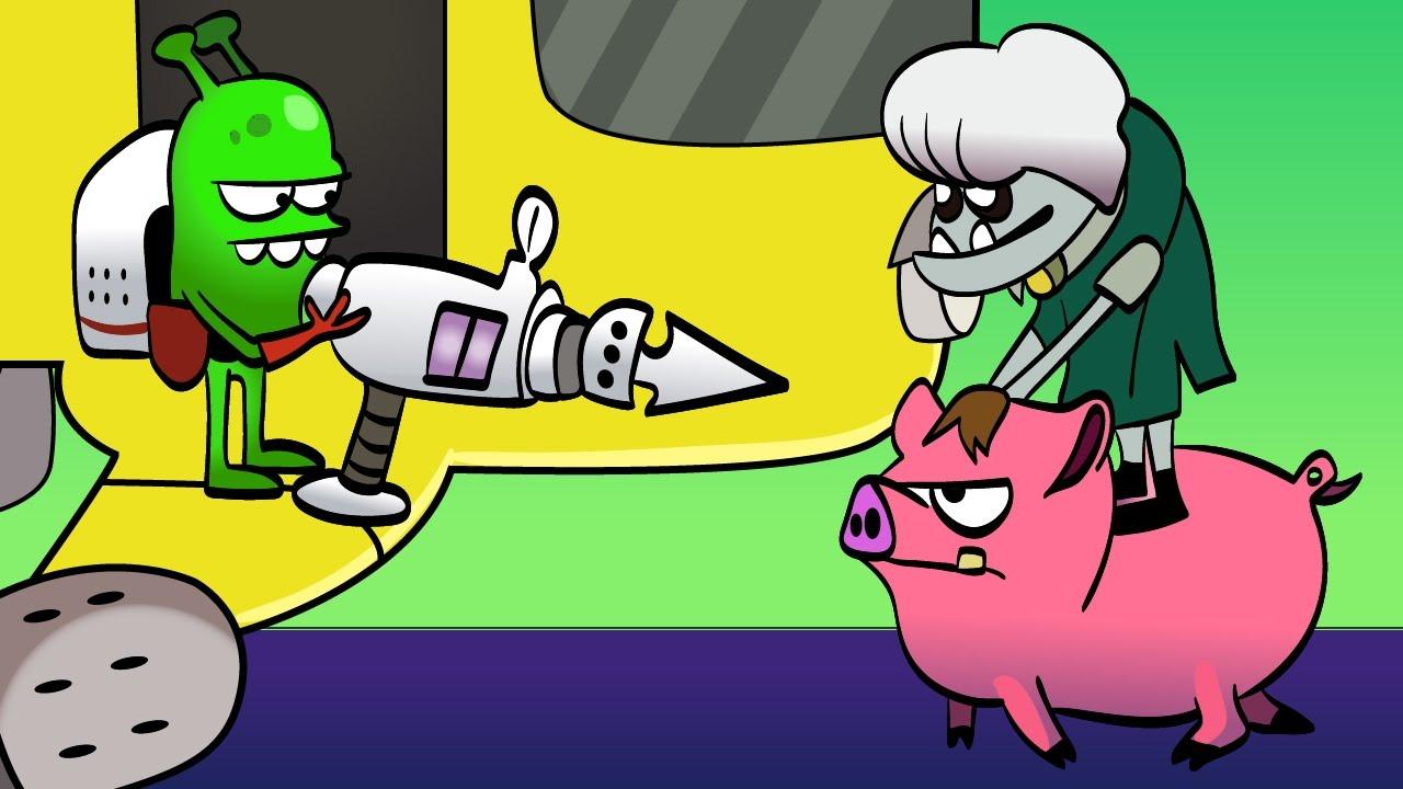 Zombie Catchers Прикольный игровой мультик про зомби Веселое видео для детей Поймай Зомби