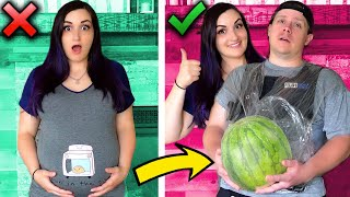 Trying MORE Terrible Troom Troom Pregnancy LIFE HACKS