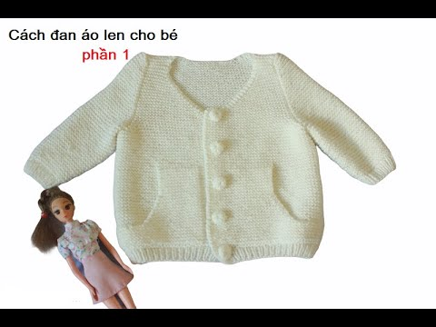 Đan áo len có túi phần 1
