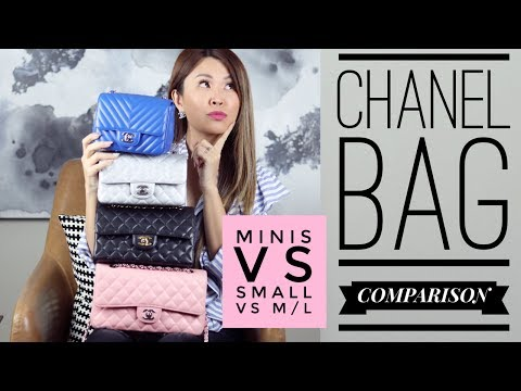 Which one? CHANEL FLAP BAG COMPARISON - Mini vs Small vs M/L