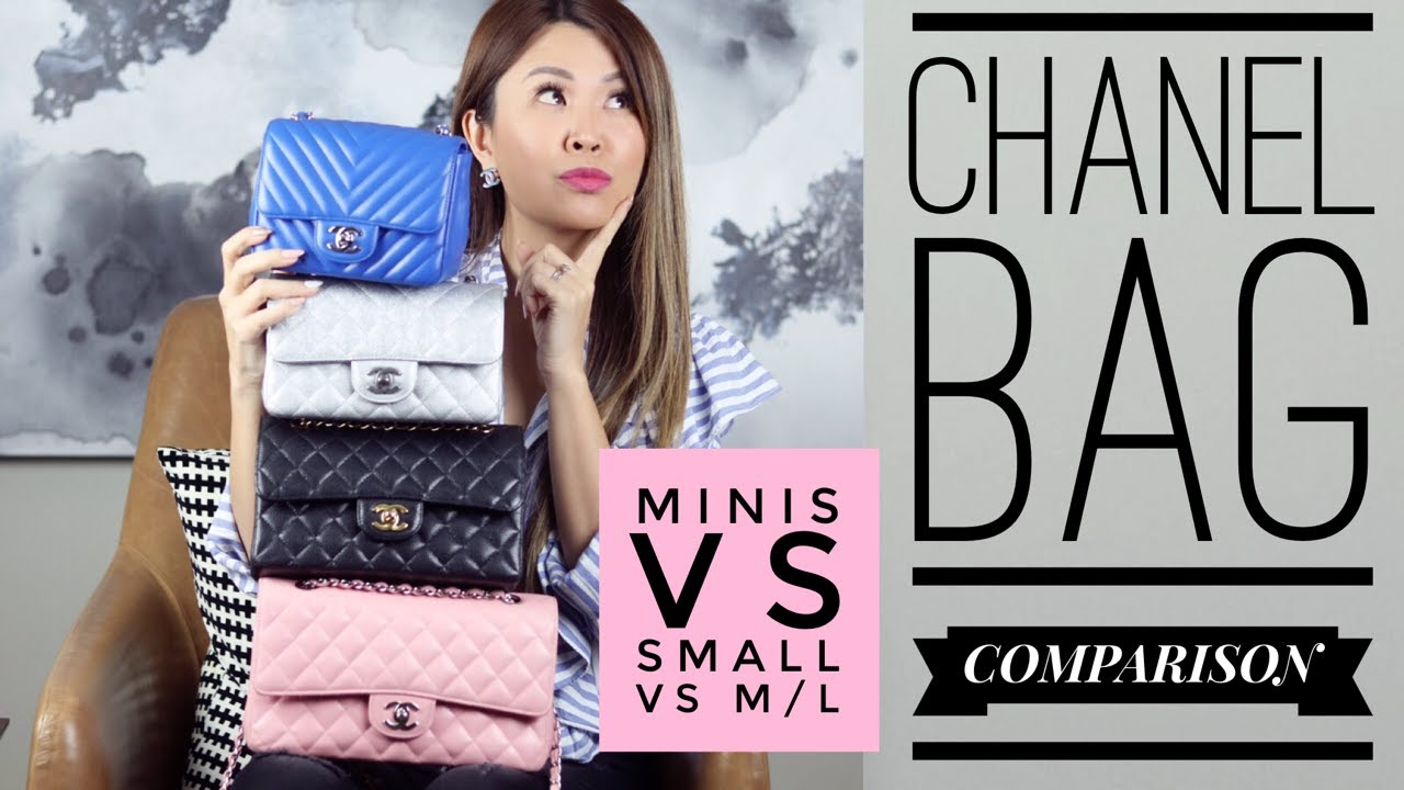 4e8e66f4f8274a Which one? CHANEL FLAP BAG COMPARISON - Mini vs Small vs M/L - YouTube