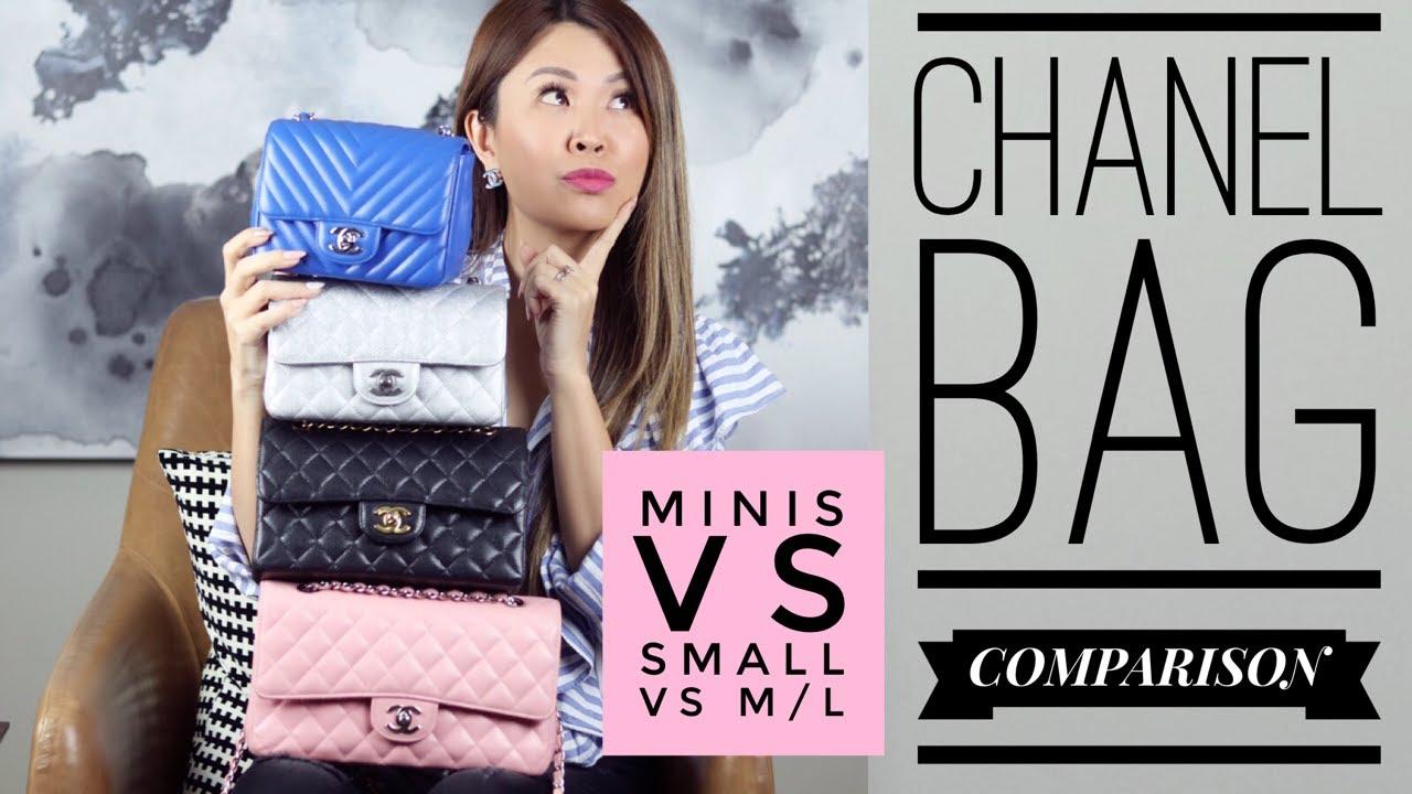 Chanel Flap Bag Comparison Mini Vs Small M L