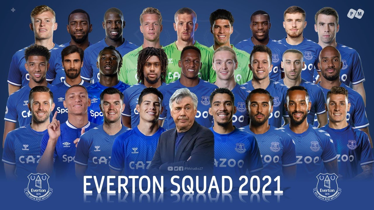 Everton FC Squad and Shirt Number 2021 | PM - YouTube