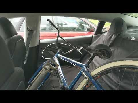 🚲👍How To Fit A Bike In A Tesla Model 3