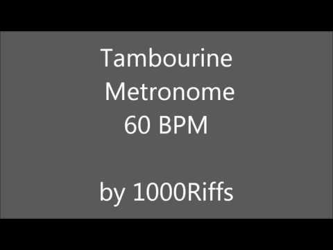 Tambourine Metronome 60 BPM - Beats Per Minute