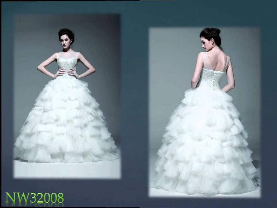 2016 Prinzessin Stil Brautkleider Online PERSUN - YouTube