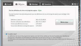 Microsoft Security Essentials Tutoriel (Francais)