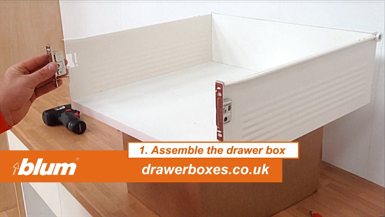 Blum Metabox Deep Replacement Kitchen Drawer Box 1 Of 3 Assemble The Drawer Box Youtube